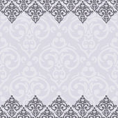 Seamless border damask baroque — Stockvector