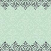 Seamless border damask baroque — Stock Vector