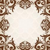 Kenarlık damask barok stili — Stok Vektör
