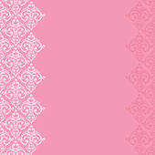 Seamless border damask baroque — 图库矢量图片