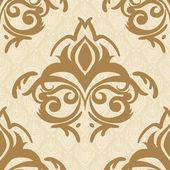 Seamless baroque damask background — ストックベクタ