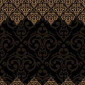 Seamless baroque damask background — 图库矢量图片