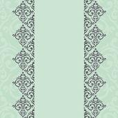 Armação de borda de damasco hortelã — Vetorial Stock
