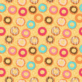 Background with donuts — Stock Vector