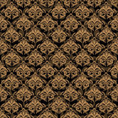 Damask golden background — Vector de stock
