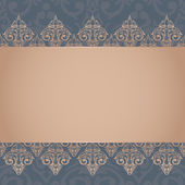 Baroque damask background — Stock Vector