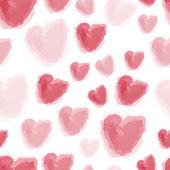 Watercolor hearts background — Stock Vector