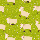 Pattern with goats — Stock Vector