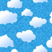 Clouds pattern — Stock Vector