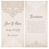 Baroque wedding invitation — Stock Vector