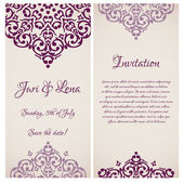 Wedding invitation banner — Stock Vector
