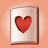 Herz am valentinstag — Stockvektor