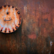 Old rusty valve on tank — Stock Photo