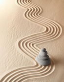 Meditatie zen-tuin — Stockfoto