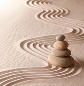 Zen-meditation-garten — Stockfoto