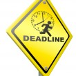 Deadline time pressure — Stock Photo
