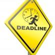 Deadline time pressure — Stock Photo