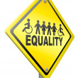 Equality equal rights and solidarity — Stock Photo