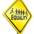 Stock Photo: Equality equal rights and solidarity