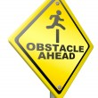 Постер, плакат: Obstacle ahead