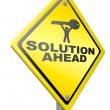Solution ahead solve problem — Stock Photo