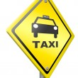 Taxi or cab — Stock Photo