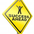 Постер, плакат: Success ahead victory and glory