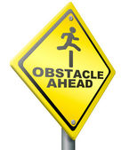 Obstacle ahead — Stock Photo