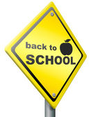 Back to school icon — Stock Photo