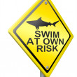 Stock Photo: Swim at own risk