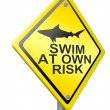Swim at own risk — Stock Photo #12325412