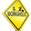 Workaholic and overworked — Foto Stock