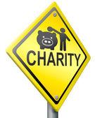 Charity fundraising — Stock Photo
