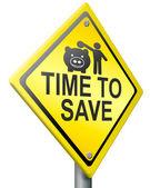Saving money now — Stock Photo
