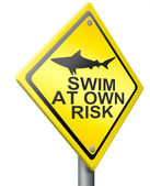 Swim at own risk — Stock Photo