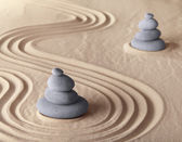 Zen meditation garden — Stock Photo