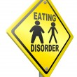 Eating disorder anorexia and obesity — Stock Photo