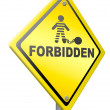 Stock Photo: Forbidden penalty
