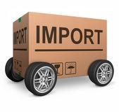 Import cardboard box — Stock Photo