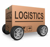 Logistics carboard box — Stock Photo