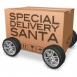 Special delivery santa — Stock Photo
