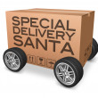 Stock Photo: Special delivery santa