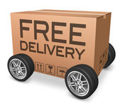 Free delivery package — Stock Photo