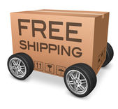 Free shipping package — Stock Photo