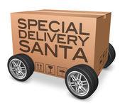 Special delivery santa — Zdjęcie stockowe