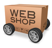 Webshop package delivery — Stockfoto