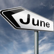 June arrow — Stock Photo