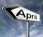 April sign — Stock Photo