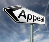 Appeal appellate court reverse or affirm outcome from lawsuit — Stock Photo