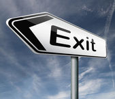 Exit route — Stock Photo